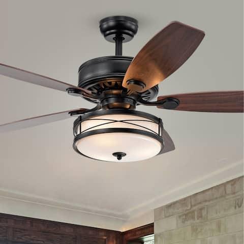 Copper Grove Maroa 52-inch Matte Black Ceiling Fan