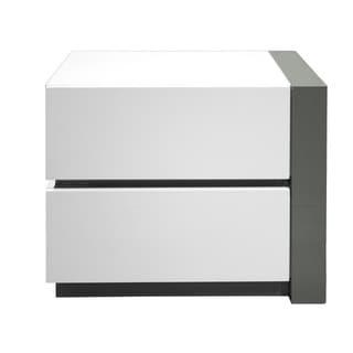 Best Master Furniture Modern White 2 Drawer Nightstand