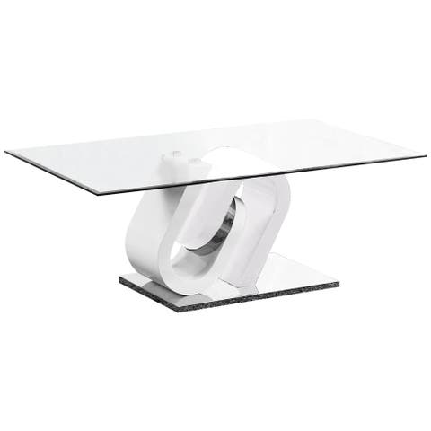 Best Quality Furniture High Gloss White Lacquer Coffee Table, End Table, or Console Table Only