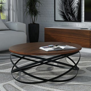 Strick & Bolton Thesleff Iron/ Wood Coffee Table