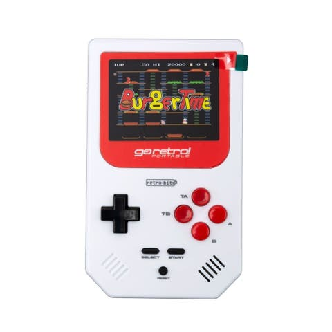 Retro-Bit Go Retro Portable, White/Red