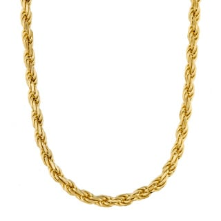 Sterling Essentials 14K Yellow Gold Overlay Rope Chain (22 in.)