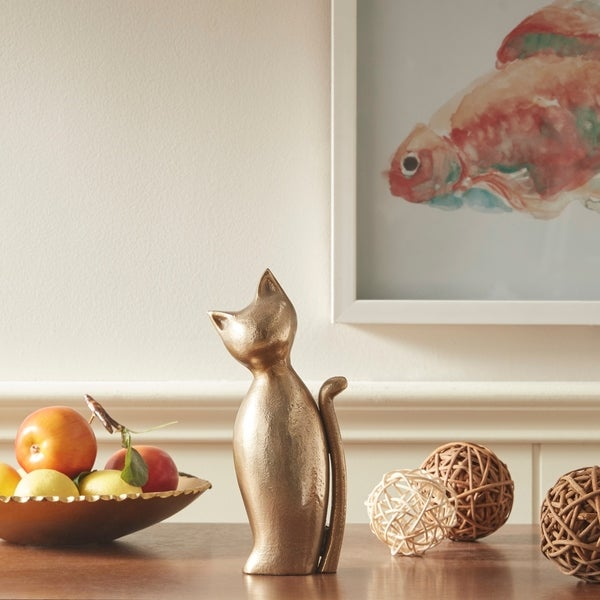 Madison Park Cat Gold Decor