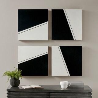 Madison Park Buren Black/ White Wall Decor Set of 4