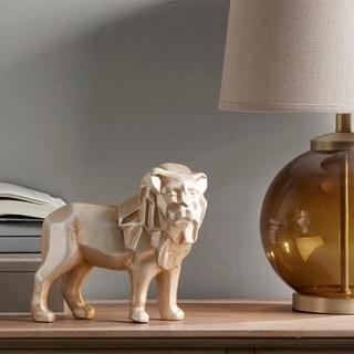 Madison Park Lion Silver Ecomix Lion Sculpture