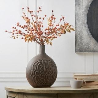 Madison Park Virrat Brown Glass Vase