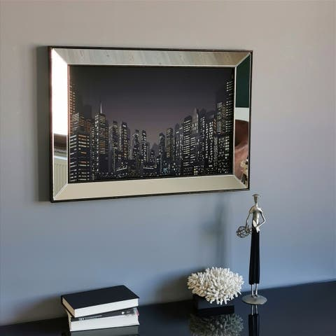 Big City Modern Wall Decor enhanced with Ultraviolet Print Design