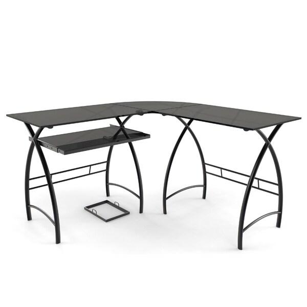 Ryan Rove Stillman Home Office 3-Piece Corner L-Shaped Contemporary Computer Desk - Black