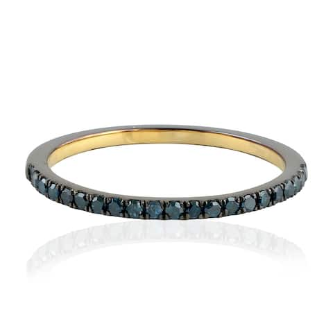 925 Sterling Silver Pave Diamond Band Ring Handmade Jewelry