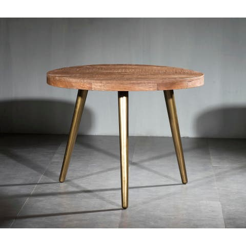 Carson Carrington Ilvad Solid Wood Iron Dining Table