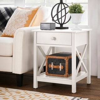 The Gray Barn Iris Knot X-frame End Table