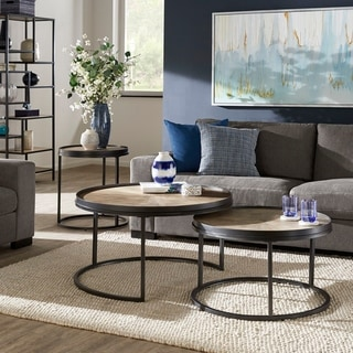 Link to Bricken Grey Oak Finish Round Coffee and End Table Collection by iNSPIRE Q Modern Similar Items in Living Room Furniture