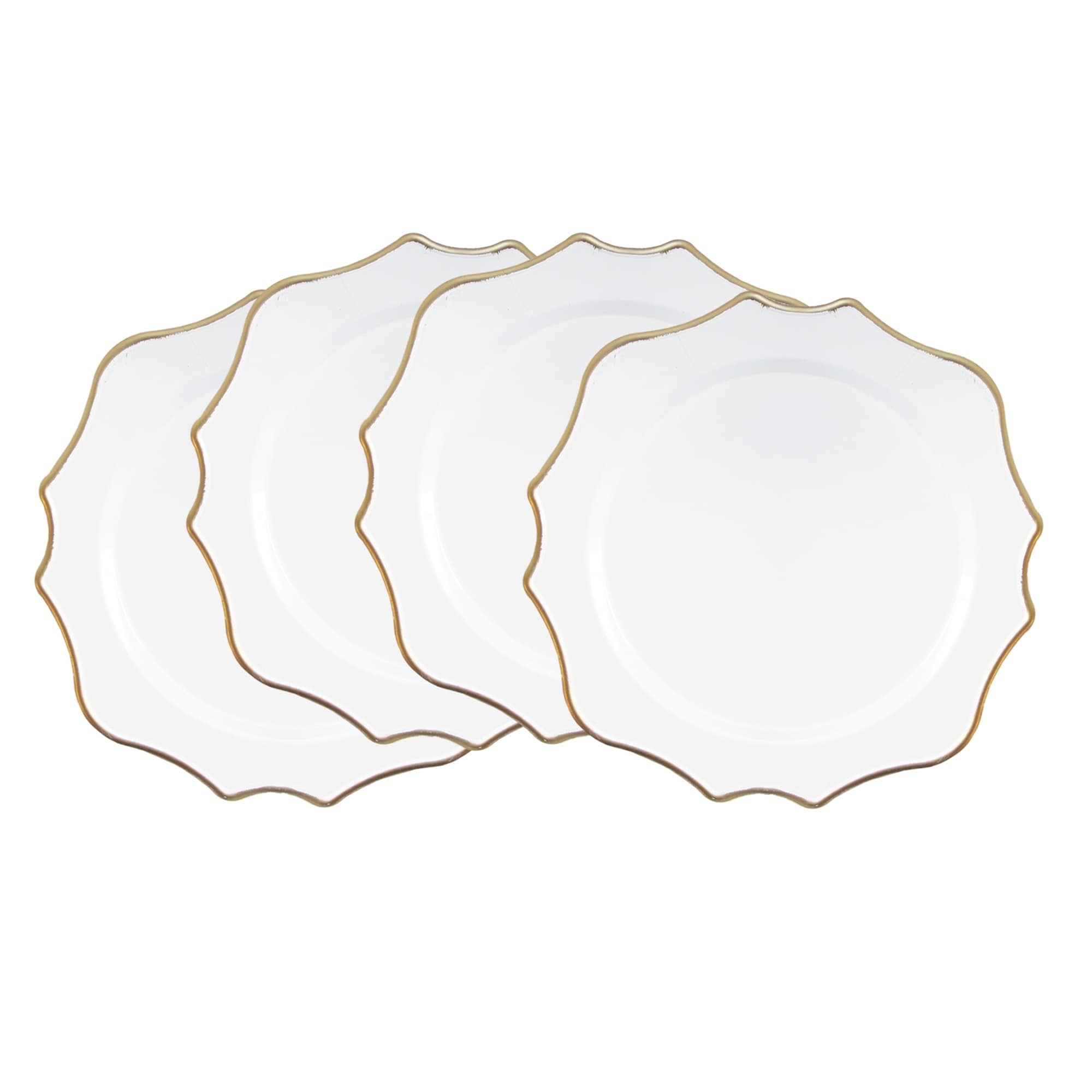 American Atelier Princess White Gold 13 Inch Charger Plate Set Of 4 Overstock 30416924