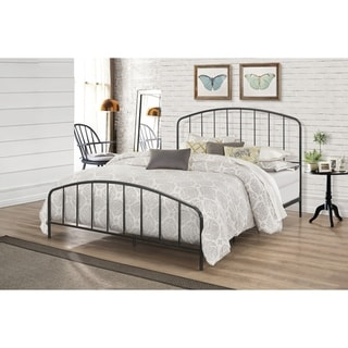 Link to Carbon Loft Cronkite Black Metal Bed with Arched Spindle Design Similar Items in Bedroom Furniture