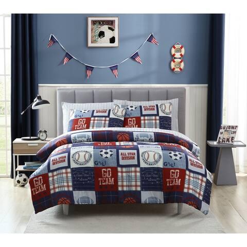 Porch & Den Plumeria Sports Fan Pattern Comforter Set