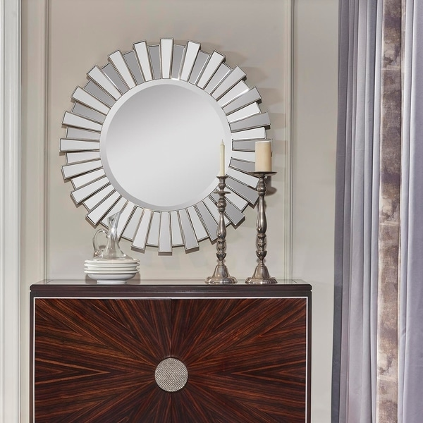Silver Orchid Hesperia Silver Accent Wall Mirror