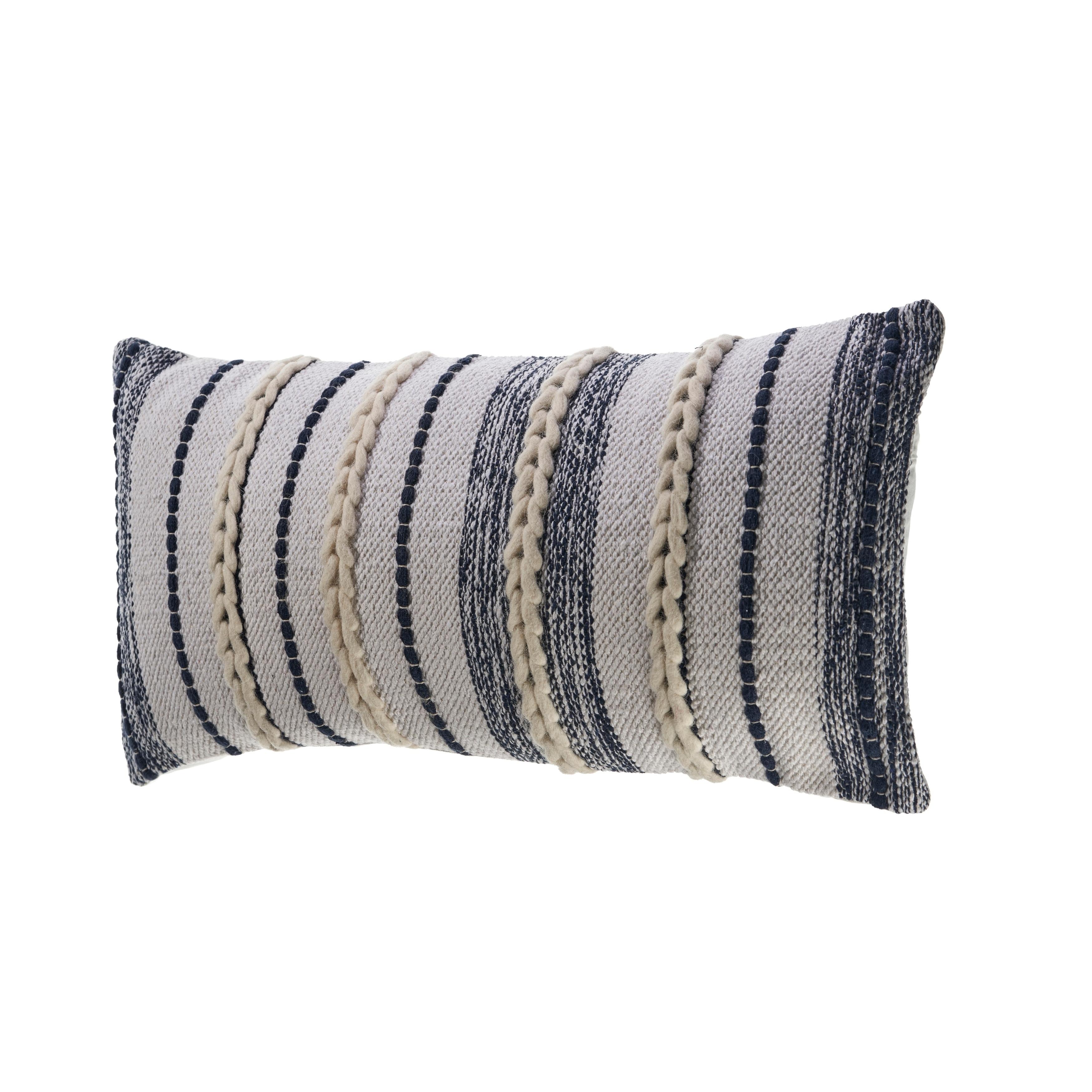 Navy Contemporary Throw Pillow