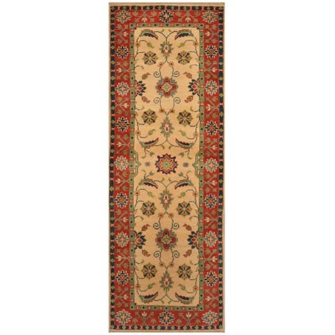 Handmade One-of-a-Kind Kazak Wool Runner (Afghanistan) - 2'2 x 6'