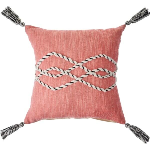 Tasseled Rose Sailor Knot Throw Pillow
