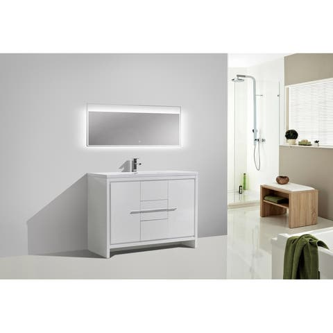 Alma-Allier 48 inch Free Standing Vanity with Integrated Sink