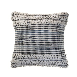 Bold Textured Navy Throw Pillow