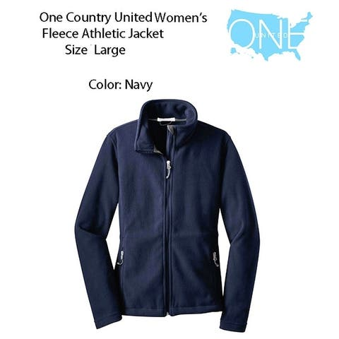 Women's Athletic Fleece Size Large, Navy - Large