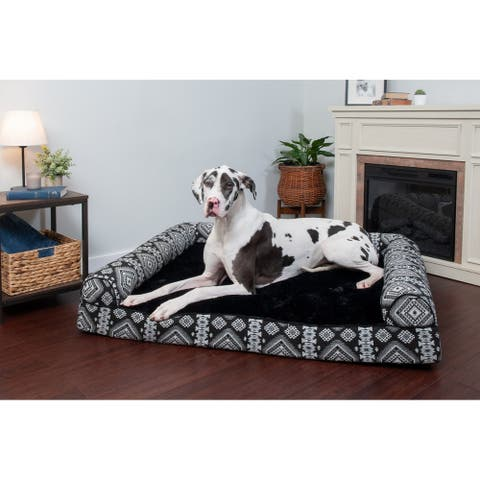 FurHaven Pet Bed Southwest Kilim Cooling Gel Sofa Dog Bed