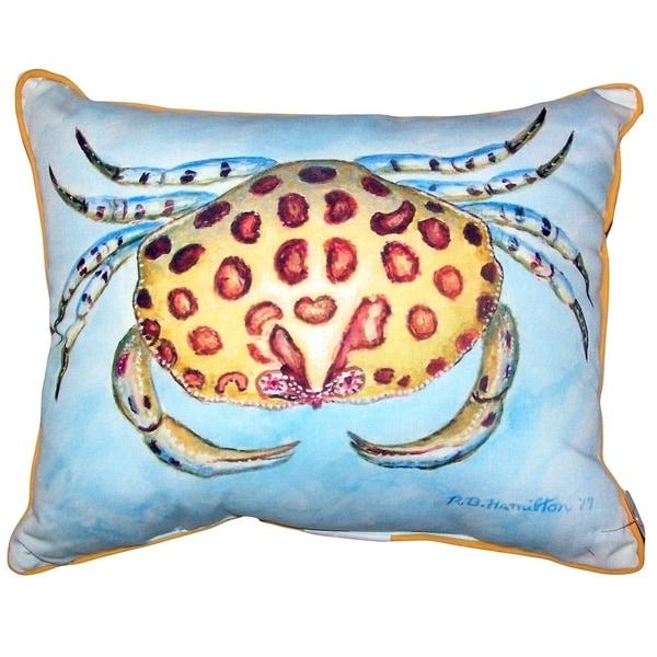 Calico Crab Large Pillow 16x20