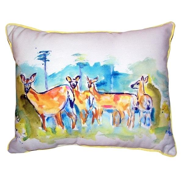Deer Herd Large Pillow 16x20