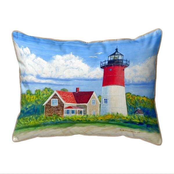 Nauset Lighthouse, Cape Cod, MA Large Pillow 16x20