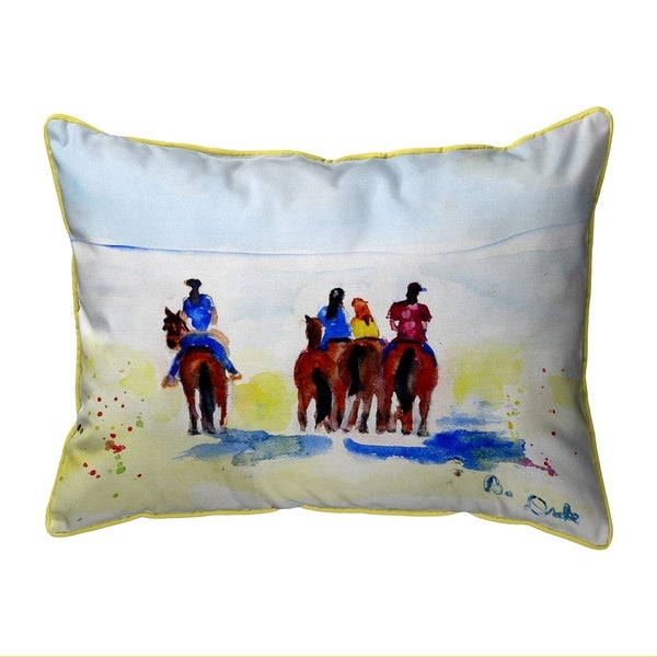 Beach Riders Large Pillow 16x20