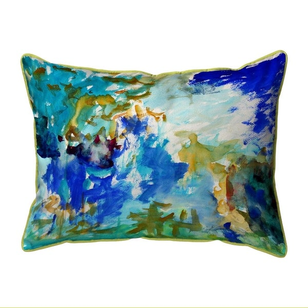 Abstract Blue Large Pillow 16x20