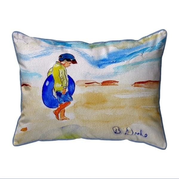 Boy & Innertube Large Pillow 16x20