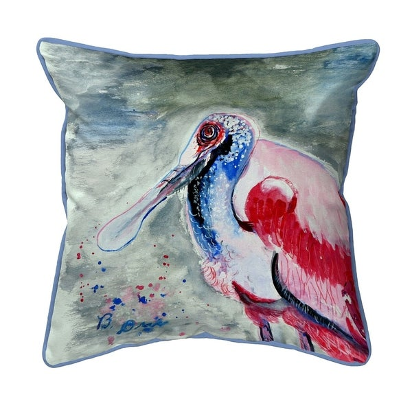Amelia Spoonbill Large Pillow 18x18