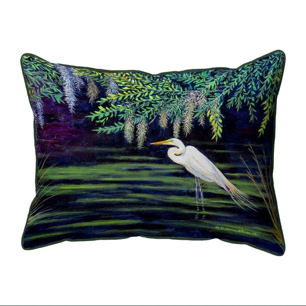 Egret Lagoon Large Pillow 16x20