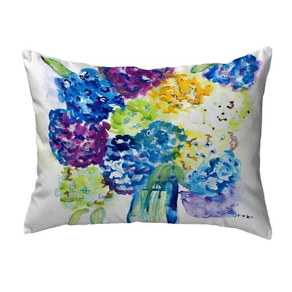 Betsy's Hydrangea Small No-Cord Pillow 11x14