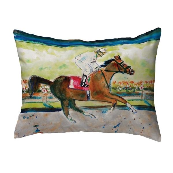 Racing Horse Small No-Cord Pillow 11x14