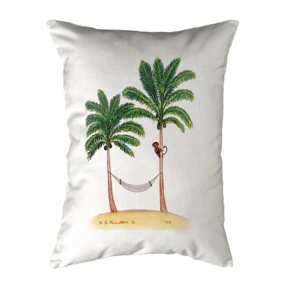 Palm Trees & Monkey Small No-Cord Pillow 11x14