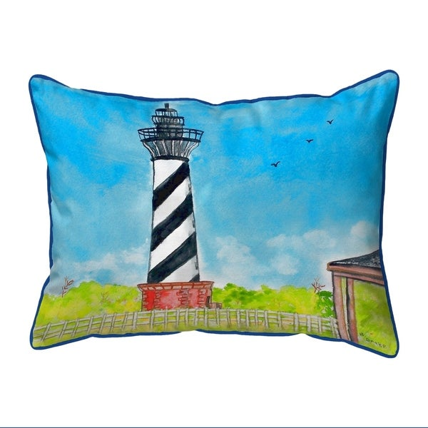 Hatteras Lighthouse Large Corded Pillow 16x20
