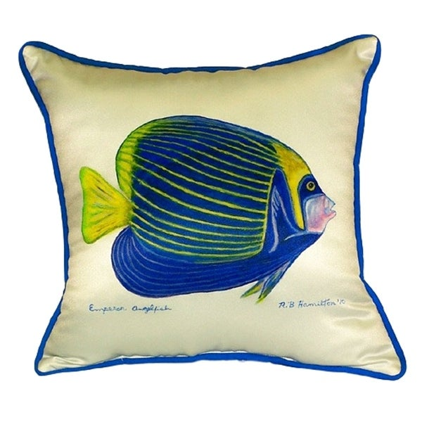 Emperor Angelfish Large Pillow 18x18