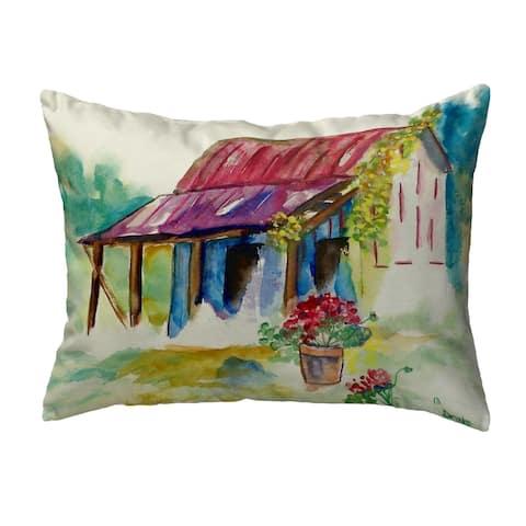 Barn & Geranium Small No-Cord Pillow 11x14