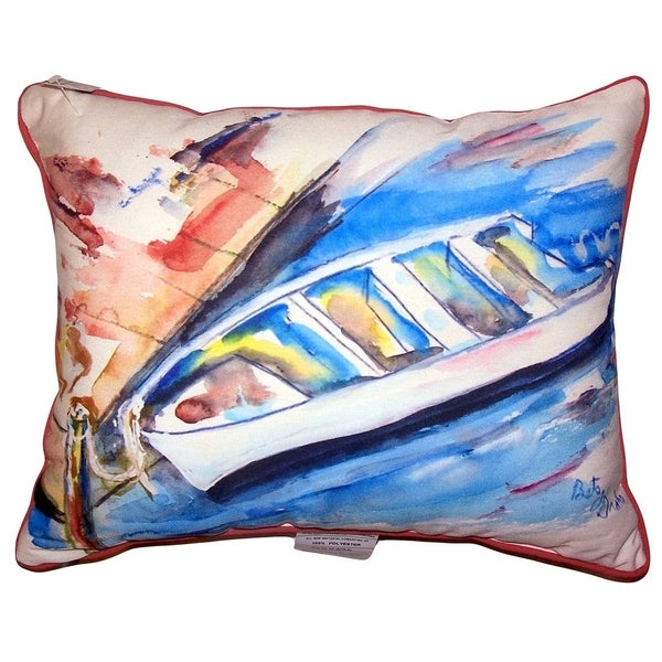 Rowboat at Dock Large Pillow 16x20