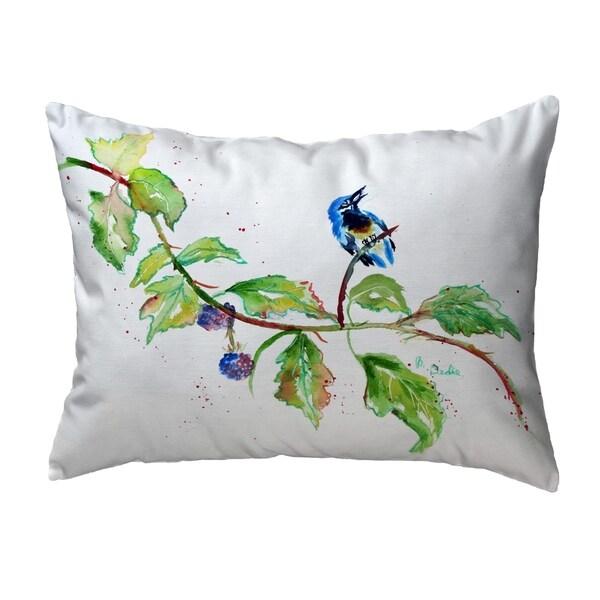 Bird & Blackberries Noncorded Pillow 11x14