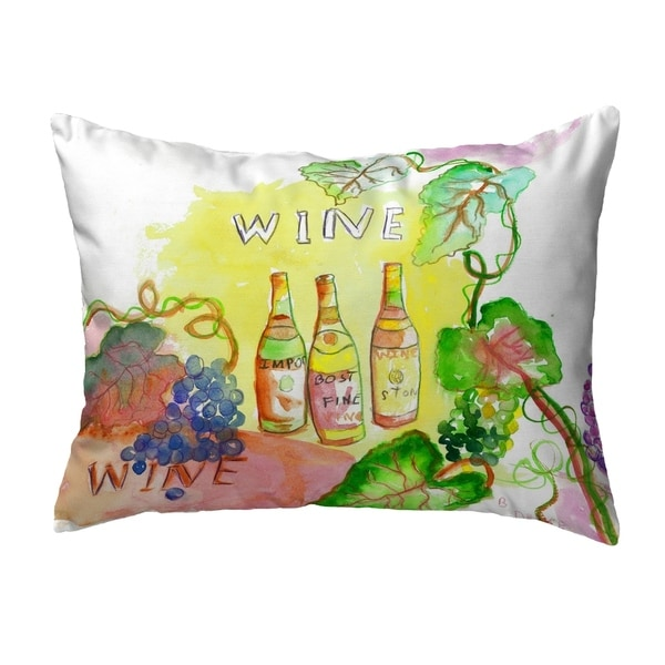 Wine Bottles Small No-Cord Pillow 11x14