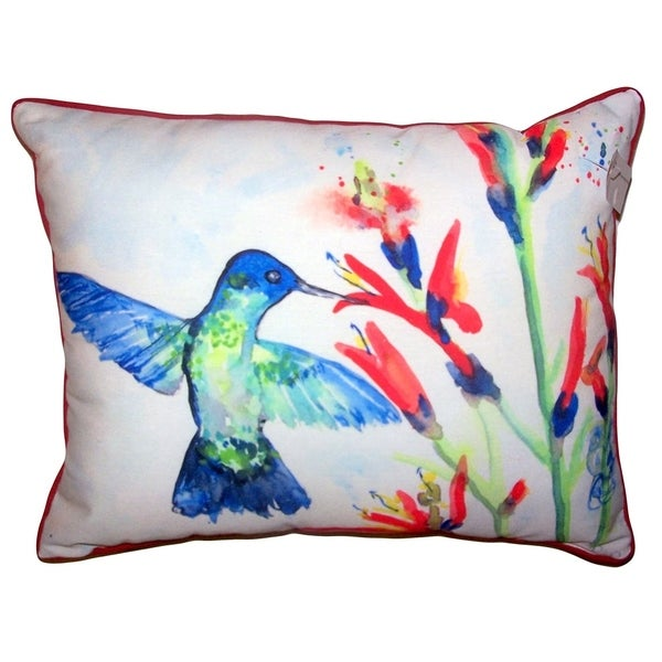 Hummingbird & Fire Plant Large Pillow 16x20