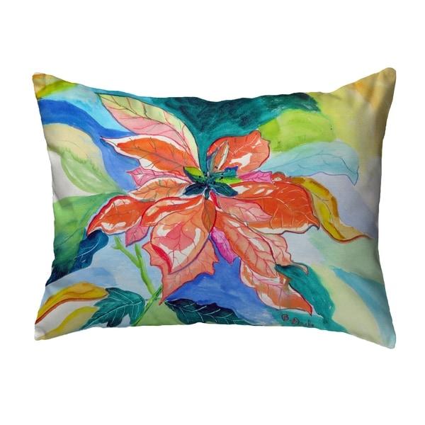 Peach Poinsettia Noncorded Pillow 11x14