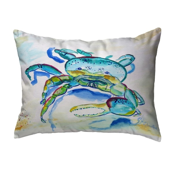 Blue Fiddler Crab Noncorded Pillow 11x14