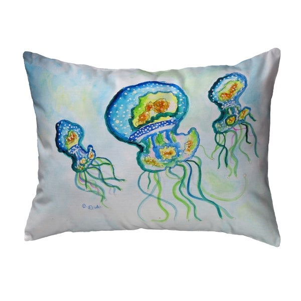Three Jellyfish Noncorded Pillow 11x14