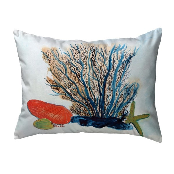 Coral & Shells Noncorded Pillow 11x14