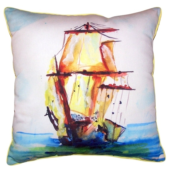 Tall Ship Small Outdoor/Indoor Pillow 12x12
